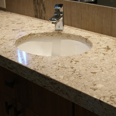 Contemporary Bathroom Countertops by Accent Interiors