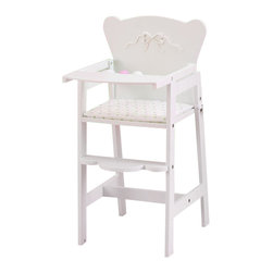 Kidkraft - KidKraft Tiffany Bow Doll High Chair - Kidkraft - Doll Furniture - 61111 - Feeding time for young girls and their favorite dolls is easier than ever with our Tiffany Bow High Chair. This adorable High-Quality chair would make a welcome addition to any young girls doll collection