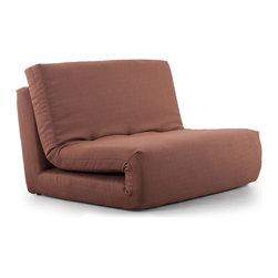 Zuo Modern - Polygon Sleeper Chair Mocha Brown - The Polygon Sleeper is modern and sleek with its all fabric exterior and its twin sized sleeper shape.