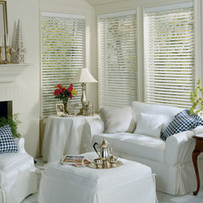 Eclectic Window Blinds by Home Source Custom Draperies & Blinds