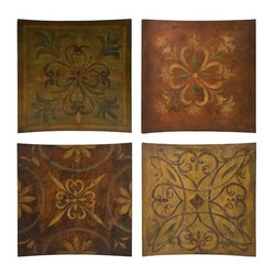 Molly Wall Decor - Set of 4 - Colors of Royalty, these impressive set of four wall pieces compliment each other's designs and come together for a complete look.