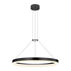 "Sonneman Lighting - Sonneman Lighting 2315.25 Corona 24"" LED Pendant Light In Satin Black - Sonneman Lighting 2315.25 Corona 24"" Led Pendant Light In Satin Black"