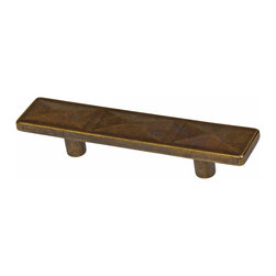 GlideRite - GlideRite 2.5-inch Antique Brass Rectangle Triple Pyramid Cabinet Pulls (Pack of - Dress up your cabinets by upgrading to these quality cabinet pulls by GlideRite Hardware . These pulls are a perfect addition or replacement for any kitchen or bathroom cabinet..