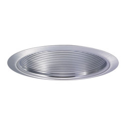 "Nora Lighting - Nora NTM-32 6"" Natural Metal Stepped Baffle w/ Natural Metal Ring - 6"" Natural Metal Stepped Baffle w/ Natural Metal Ring"