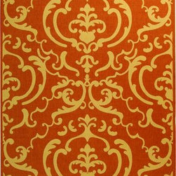 "Safavieh - Safavieh Courtyard CY2663-3202 7'10"" Round Teracotta, Natural Rug - Safavieh's Courtyard collection was created for today's indoor/outdoor lifestyle. These beautiful but practical rugs take outdoor decorating to the next level with new designs in fashion-forward colors and patterns from classic to contemporary. Made in Turkey with enhanced polypropylene for extra durability, Courtyard rugs are pre-coordinated to work together in related spaces inside or outside the home."