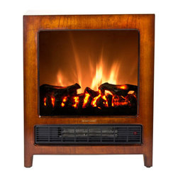 "Frigidaire KSF-10301 Kingston 110v Electric Free Standing Floor Fireplace - Frigidaire KSF-10301 Kingston Wooden Floor Standing Electric Fireplace  gives your living space a classic touch. This intelligently designed  fireplace offers portability that brings instant warmth and comfort to  any room with its dual heat settings. The realistic flame effect, which  works with and without heat, compliments any home dcor all year-round.  You can continue to enjoy the beauty and glow of the flames even when  you don't need the heat. The fireplace has a built-in automatic overheat  protection that puts you at ease during unexpected power fluctuations  and accidental vent blockage. No assembly or additional hardware needed  simply plug and heat. Plus, with the cool touch housing, this  thoughtfully stylish designed, rich fireplace is a must-have for every  home3539aFeatures: - Kingston floor standing electric fireplace with classic real wood finish heats up to 350 sq. ft.- Dual heat settings (675 Watts/2300 BTU; 1350 Watts/4600 BTU) offers flexibility to choose your heating preference- Built-in overheat protection with auto safety shut-off- Realistic logwood flame effect- Flames operate with and without heat- Flames do not include realistic crackling sound- Cool touch housing- Portable design so you can move the unit from room to room- Classic wood design brings comfort to any room dcor- No assembly or hardware needed, simply plug in and heat- Size: 19.3""H x 7.5""D x 16""WSPECIFICATIONS: - Classic, real wood finish floor standing electric fireplace- Dual heating setting: 675/1350 Watts; 2300/4600 Heat BTU- Realistic logwood flame effect- Flames operate with and without heat- Cool-touch housing- Built-in overheat protection- Auto-shutoff- Compact & portable design- No assembly needed - just plug in and heat- 1-year limited warranty 3539b"