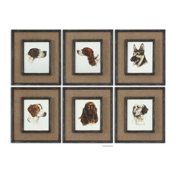 Uttermost - Set of 6 Special Friends Wall Art Frames Coat Taupe Gold Dry Brushing - Beautiful special friends wall art frames black base coat brown taupe distressing gold dry brushing home decor