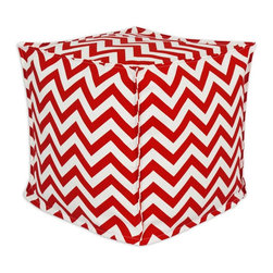 Sands - Breezy Chevron Cherry  Indoor-Outdoor Accent 17X17 inch Ottoman - Add a modern touch to your home and outdoor with this decorative Ottoman. This Ottoman is designed to accent your home and your outside patio. This soft but durable fabric will accent any room and give your home inside or outside space a stylish look.