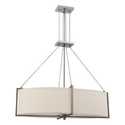 Hazel Bronze Energy Star Oval 6 Light Chandelier/Pendant With Khaki Shade - Condition: New - in box