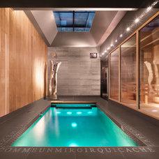 Contemporary Pool by Martine Brisson designer d'intérieur