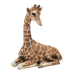 Sandicast - Sandicast Original Size Giraffe Sculpture - OS268 - Shop for Sculptures Statues and Figurines from Hayneedle.com! Whether you're going for a jungle theme or simply an exotic touch the Sandicast Original Size Giraffe Sculpture will complete your look. This quality sculpture has authentic features and demeanor cast and painted by hand.About Artist Sandra Brue and SandicastBased in San Diego artist Sandra Brue has been creating art for 25 years. Her hand-cast hand-painted pieces are beloved for their stunning lifelike qualities. Sandra founded Sandicast in 1981 in San Diego; in 2005 the Neufeld family acquired Sandicast in order to allow Sandra more time to devote to philanthropic endeavors. The company is still a proud vendor of Sandra Brue's sculptures.How to care for your Sandicast Statues:Regularly dust Sandicast statues with a dry soft toothbrush in order to keep them looking their best. To wash them moisten a terry towel and gently wipe them down. You may use soap on white areas but make sure not to use soap on any painted areas as this could damage your sculpture. To avoid maximum wear and tear don't expose your statues to harsh elements. A few precautions and you'll enjoy your sculpture for years to come.