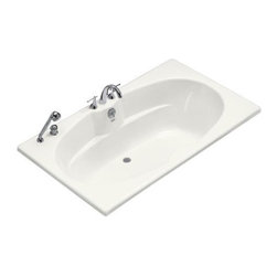 KOHLER - KOHLER K-1132-F-96 ProFlex 7242 Bath with Flange in Biscuit - KOHLER K-1132-F-96 ProFlex 7242 Bath with Flange in BiscuitThis ProFlex bath offers an economical yet spacious design perfect for two-person bathing. The smooth finish of the high-gloss acrylic is easy to clean and resists chipping and cracking, and the tile flange simplifies installation and prevents the possibility of water damage behind the wall. This bath is designed for three-wall alcove installations and bath-mount faucets.
