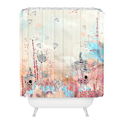 DENY Designs - Iveta Abolina Crystal Lake Shower Curtain - Who says bathrooms can't be fun? To get the most bang for your buck, start with an artistic, inventive shower curtain. We've got endless options that will really make your bathroom pop. Heck, your guests may start spending a little extra time in there because of it!