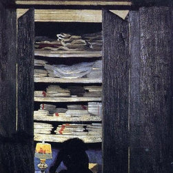 "Felix Vallotton Woman Searching through a Cupboard - 16"" x 24"" Premium Archival - 16"" x 24"" Felix Vallotton Woman Searching through a Cupboard premium archival print reproduced to meet museum quality standards. Our museum quality archival prints are produced using high-precision print technology for a more accurate reproduction printed on high quality, heavyweight matte presentation paper with fade-resistant, archival inks. Our progressive business model allows us to offer works of art to you at the best wholesale pricing, significantly less than art gallery prices, affordable to all. This line of artwork is produced with extra white border space (if you choose to have it framed, for your framer to work with to frame properly or utilize a larger mat and/or frame).  We present a comprehensive collection of exceptional art reproductions byFelix Vallotton."