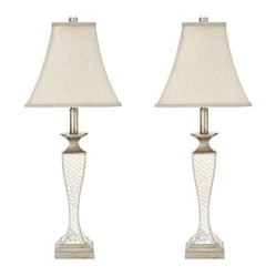 Indoor 1-light Mirror Mosaic Table Lamps (Set of 2)