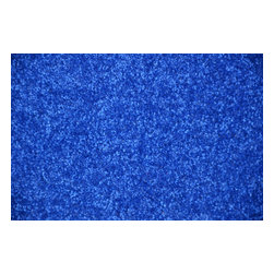 Dean Flooring Company - Electric Blue Plush 6' x 8' Bound Carpet Area Rug - Electric blue plush 6' x 8' area rug by Dean Flooring Company.
