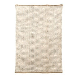 Target Home™ Wool/Jute Rug, Cream - I really like this natural, woven, wool rug from Target because it's simple and can adapt easily to any furniture you already have.