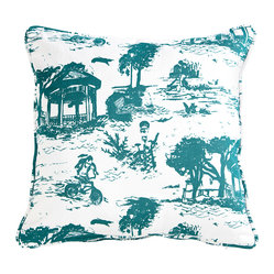 Savannah Toile Collection - Pillow - Teal