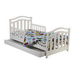 Dream On Me Elora Collection Toddler Bed With Storage Drawer, White - You have to love a bed that has two functions.
