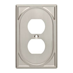 Liberty Hardware - Liberty Hardware 144422 Cambray WP Collection 3.24 Inch Switch Plate - Satin Nic - A simple change can make a huge impact on the look and feel of any room. Change out your old wall plates and give any room a brand new feel. Experience the look of a quality Liberty Hardware wall plate.. Width - 3.24 Inch,Height - 4.98 Inch,Projection - 0.19 Inch,Finish - Satin Nickel,Weight - 0.18 Lbs