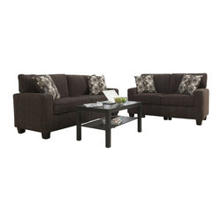 Serta by True Innovations - Serta San Paolo 2 Piece Sofa Set in Mink Brown Fabric - Serta by True Innovations - Sofa Sets - CR43535CR43530PKG
