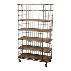 Atlanta Baker's Rack - Plantation-cut mango wood and reclaimed iron in a coppery finish bring an old-school baker's rack to life in a new way. Though it may be new, its vintage finishes make this piece feel ever so authentic. So pile up those books, blankets, towels, or whatever you fancy. There's plenty of room here for all your treasures.