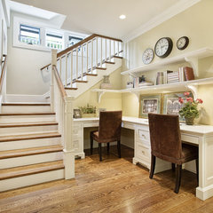 traditional staircase by Carolyn Woods Design