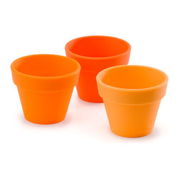 Fusionbrands PetitePot Silicone Pinch Bowl Set Of 3 Orange - The Fusionbrands PetitePot™ It is the cutest  little flexible container that functions in infinite ways. The PetitePot™ is the perfect partner when cooking  seasoning  baking  snacking and organizing.  Add a pinch of your favorite spice  melt butter  separate ingredients and even bake your treasured mini delights.Whether organizing small items for the office  bath or craft room  or providing single serving sizes of snacks and sweets  both big and little hands easily grip the PetitePot™.  Kids love them in the bathtub  at the beach  not to mention at the table with a tasty snack or dipping sauce. Grab your PetitePot™ and discover the endless possibilities. They're so cute you'll want to pinch 'em!  Product Features      Sold in a set of 3   FDA/EU food safe silicone   Prep  bake and serve   Kid friendly   1.5 oz (3 tbsp capacity)   Dishwasher  microwave  oven & freezer safe   550°F heat resistant - fun to bake in!   BPA free
