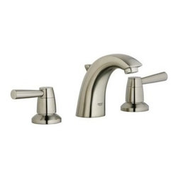 Grohe - Grohe 20 121 EN1 Arden Two-Handle Widespread Lavatory Faucet - Arden Two-Handle Widespread Lavatory Faucet belongs to Arden Collection by Grohe Equipped with ceramic disk valving, the GROHE Arden 8 in. 2-Handle Low-Arc Bathroom Faucet in Brushed Nickel helps eliminate dripping for an efficient design. A dual-handle setup offers smooth operation to provide more precise temperature control. The brushed nickel finish lends added durability to the design for long-lasting quality.  Faucet (1)