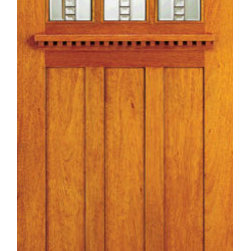 "Three-Lite Mahogany Craftsman Style Doors for Arts and Crafts Home - SKU#    AC-701-B_1Brand    AAWDoor Type    ExteriorManufacturer Collection    Arts and Crafts Front DoorsDoor Model    Door Material    Woodgrain    Veneer    Price    370Door Size Options    30"" x 80"" (2'-6"" x 6'-8"")  $036"" x 80"" (3'-0"" x 6'-8"")  +$54042"" x 80"" (3'-6"" x 6'-8"")  +$78030"" x 84"" (2'-6"" x 7'-0"")  +$50036"" x 84"" (3'-0"" x 7'-0"")  +$54042"" x 84"" (3'-6"" x 7'-0"")  +$78036"" x 96"" (3'-0"" x 8'-0"")  +$82042"" x 96"" (3'-6"" x 8'-0"")  +$1020Core Type    Door Style    Craftsman , MissionDoor Lite Style    3 LiteDoor Panel Style    3 PanelHome Style Matching    Craftsman , Prairie , Bungalow , Mission , Arts and CraftsDoor Construction    Prehanging Options    Prehung , SlabPrehung Configuration    Single DoorDoor Thickness (Inches)    1.75Glass Thickness (Inches)    3/4 , 1/2Glass Type    Triple GlazedGlass Caming    BlackGlass Features    Beveled , Tempered , InsulatedGlass Style    Art GlassGlass Texture    Glass Obscurity    Door Features    Door Approvals    FSCDoor Finishes    Door Accessories    Weight (lbs)    340Crating Size    25"" (w)x 108"" (l)x 52"" (h)Lead Time    Slab Doors: 7 daysPrehung:14 daysPrefinished, PreHung:21 daysWarranty"