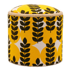 Pomada - Ears of Corn Mini Box Ottoman - FSC certified recovered structural cardboard tubes from the paper industry. Usage: Use it as a box, seat, little table, bench or stool and let it contribute warmly to the general decor!