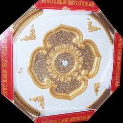 uDecor - BRR-11-S074 Michelangelo Medallion - Michelangelo Ornate Medallions