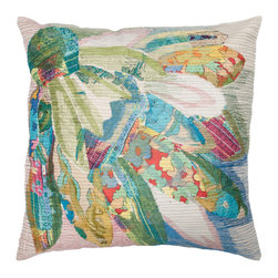 Barn & Willow - Blue Maple Pillow Cover - Our Blue maple pillow cover with turquoise blue tones will lend a cool charm to your space. The design shows a maple leaf seen through a blue tainted glass.