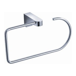 Fresca - Fresca Generoso Bathroom Towel Ring - All our bathroom accessories are imported and are selected for their modern, cutting edge designs. All accessories are made with brass with a quadruple chrome finish. All our accessories have been chosen to complement our other line of products including our vanities, steam showers, whirlpools, and toilets.
