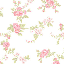 Floral Print in Pink, Green, and White - AB27658 - Collection:Abby Rose 2