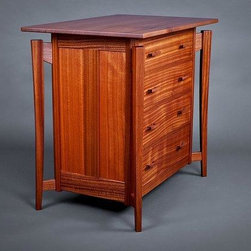 Walk About Dresser - Terra Firma Design's, walk about dresser, is made from Sapele wood from Edensaw Woods.