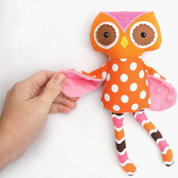 Owlexis the Mini Owl by Squishy Bee - This adorable polka dot owl is a sweet modern valentine that will get tons of love year round.