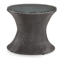 Zuo Modern - Zuo Modern Horseshoe Bay Outdoor Coffee Table X-152107 - Make your space yours with the Horseshoe Bay. The Horseshoe Bay chair has a unique rocking mechanism that brings the fun and comfort to your space. While rocking with the chair you can keep your beverage still on this coffee table, fitted with a tempered glass top, keeping your drink stable even if you are not. This collection has an aluminum tube frame that is wrapped with a UV resistant synthetic weave that does not fray in any condition. Keeping you comfortable, this chair is accompanied with a foam core cushion that is water resistant. Make your space your own, the Horseshoe Bay is the perfect fit for your space.