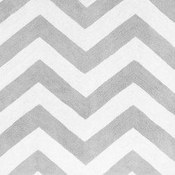 Sweet Jojo Designs - Zig Zag Gray Chevron Floor Rug by Sweet Jojo Designs - The Zig Zag Gray Chevron Floor Rug by Sweet Jojo Designs, along with the  bedding accessories.