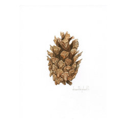 David Kiphuth - Cone 2 by David Kiphuth - David Kiphuth treats you to a close-up look at the natural world. Prop up this original watercolor on the mantel with some potted plants and a bowl of real pinecones or add it to a growing group of botanical prints.