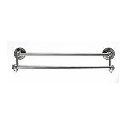 "Top Knobs Hardware - Edwardian Bath 18"" Double Towel Rod - Beaded Back Plate - Length - 20-1/2''"