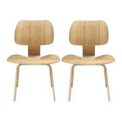 Modway Imports - Modway EEI-870-NAT Fathom Dining Chairs Set of 2 In Natural - Modway EEI-870-NAT Fathom Dining Chairs Set of 2 In Natural