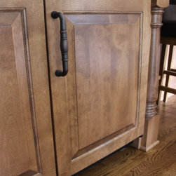 Traditional Kitchen Remodel - Beverage refrigerator