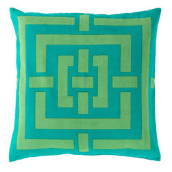 "Surya - Surya Pillow Kit Down Square Spectra Green 20"" x 20"" Accent Pillow - This accent pillow brings texture to any space. Great addition to any couch or chair. Perfect for any room setting. Add this pillow to your collection today. Pillow Measurements are: 20"" x 20"", Pillow is made of: 100% Cotton, Color is: Teal."