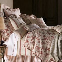 French Laundry Home Toile Queen Duvet Cover