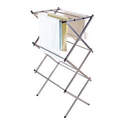 StorageIdeas - StorageIdeas Folding Water-resistant Steel Drying Rack, 3-tier 24-inch - Features: