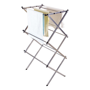 StorageIdeas - StorageIdeas Folding Water-resistant Steel Drying Rack, 3-tier 24-inch - Features: