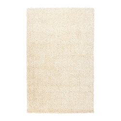 Surya - Plush Nitro 2'x3' Rectangle Winter White Area Rug - The Nitro area rug Collection offers an affordable assortment of Plush stylings. Nitro features a blend of natural Winter White color. Handmade of 100% Polyester the Nitro Collection is an intriguing compliment to any decor.