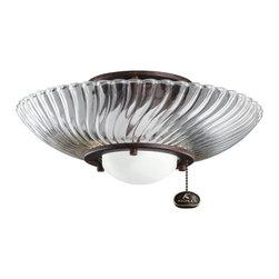 Kichler Lighting - Kichler Lighting 380113TZ Decor Swirl Ceiling Fan Light Kit - Kichler Lighting 380113TZ Decor Swirl Ceiling Fan Light Kit