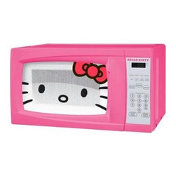 Sakar International - Hello Kitty 0.7 Cubic-Foot Microwave - HELLO KITTY 0.7 CU FT Microwave